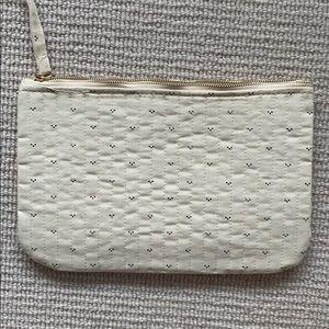 Sezane Bags - Sezane cream pouch